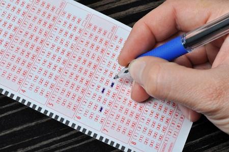 lottery: Real close-up van de Poolse loterij ticket Stockfoto