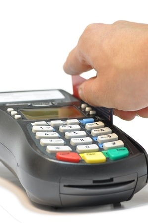 Payment on a credit card through the terminal Stock Photo - 10692077
