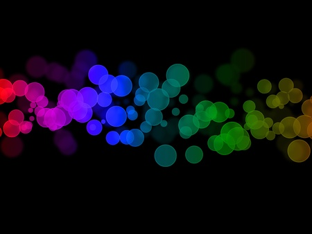 coloured: glittering lights against a black background - abstract
