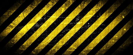 rusted: Grunge background, yellow and black stripes