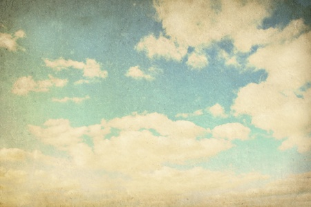 watercolor blue: Vintage cloudy background, Watercolor background Stock Photo