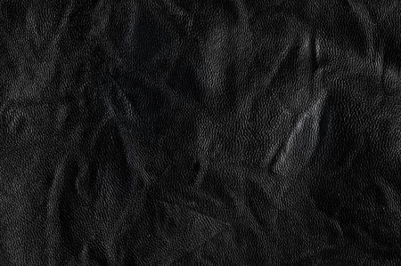 black leather texture: Dark background or texture  leather    Stock Photo