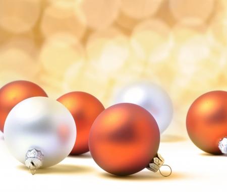 Christmas balls on the white background  Stock Photo - 15321218
