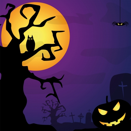 fully editable halloween background Vector