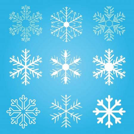 Snowflakes winter set,  design. Stock Vector - 15543492