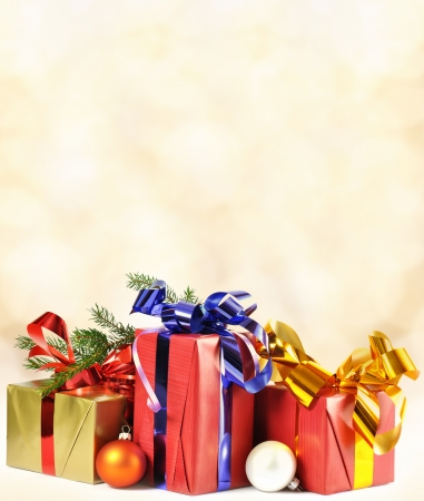 Christmas gift and baubles Stock Photo - 15570588