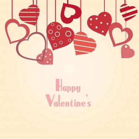 Fondo de la vendimia de San Valentín con el corazón