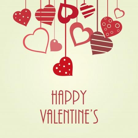 Vintage vector valentine Illustration