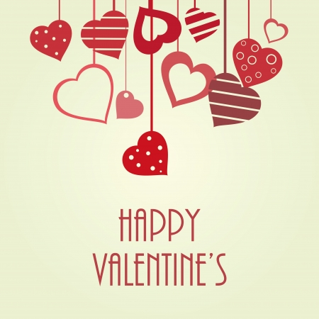 valentines card: Vintage vector valentine Illustration
