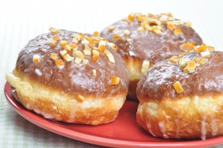 thursday: Closeup of  polish donuts  This is typical polish food during  Fat Thursday   Fat Thursday  is a traditional Polish and German feast