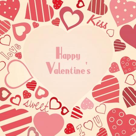 valentine s card: Vintage vector valentine Illustration