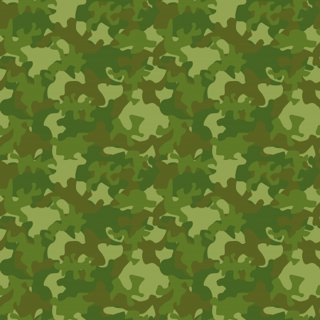 illustration of camouflage seamless pattern Vector