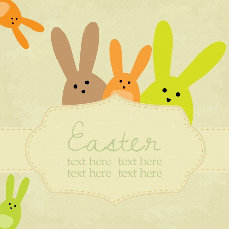 Vector vintage easter background with space for your text Vector