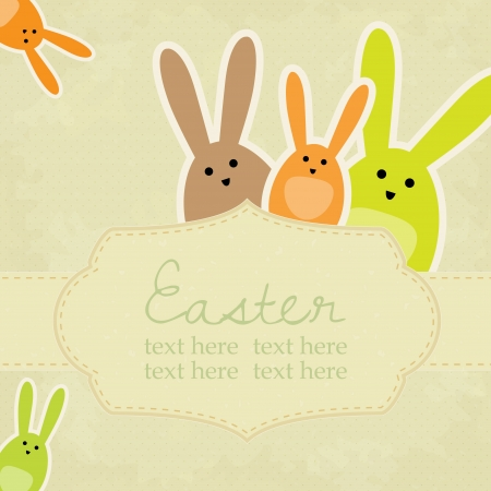 easter background: Vector vintage easter background with space for your text Illustration