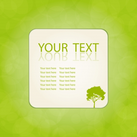Green vector natural background with space for your text Vector
