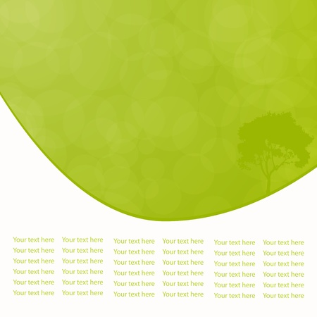 Green vector natural background with space for your text Stock Vector - 18254738