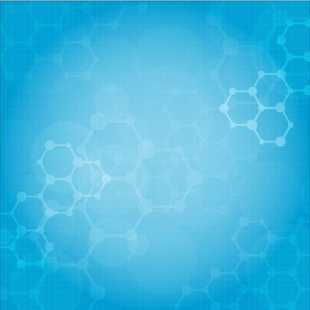 medical light: Abstract molecules medical background Illustration