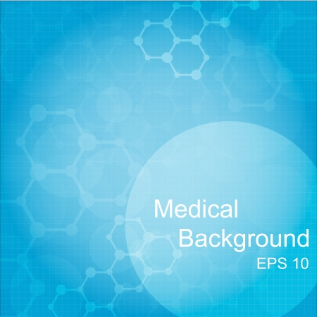 vector medical: Abstract molecules medical background  Vector