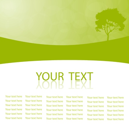 Green vector natural background with space for your text Stock Vector - 18425350