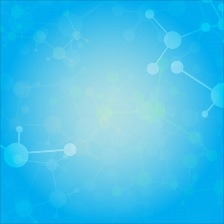biomedical: Abstract molecules medical background  Vector