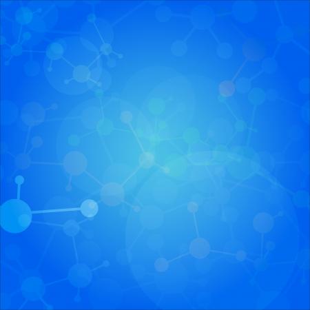 medical background: Abstract molecules medical background    Illustration
