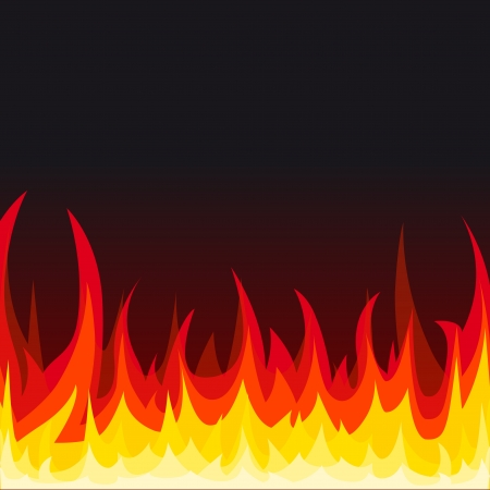 gas barbecue: Fire background  Vector illustration  Illustration