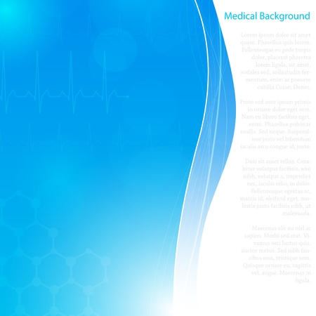ekg: Abstract molecules medical background  Vector