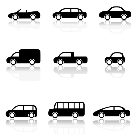 Car icons set  Vector illustration Stock Vector - 19756360