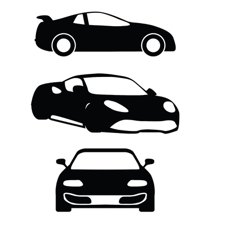 Collection of vector cars silhouettes  Vector