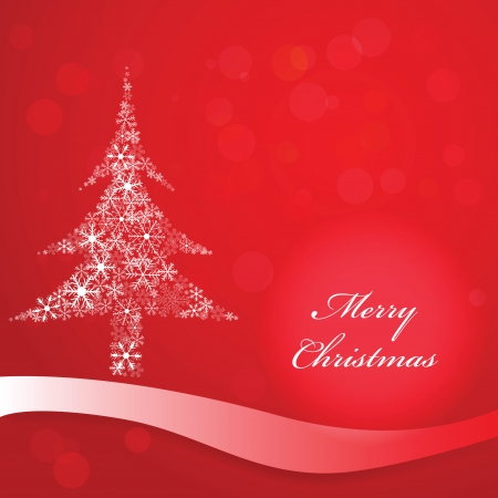 Vector background with christmas tree Stock Vector - 22561441