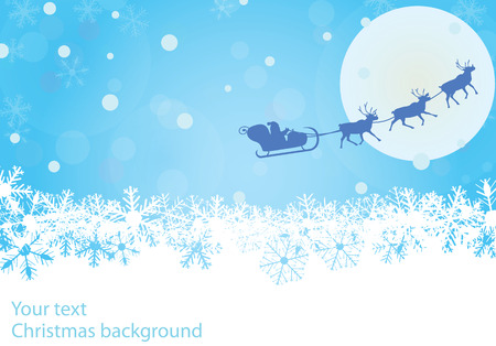 Vector christmas background with copy space Vector