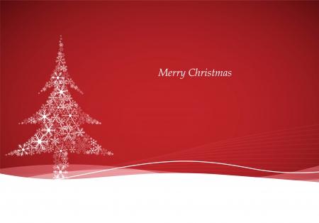 cold background: Sfondo vettoriale con albero di Natale