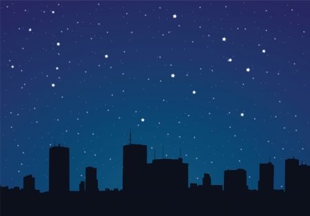 Vector illustration of a city at night Stock Vector - 22561645