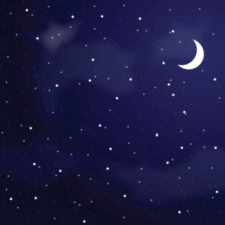 nubes cielo: Ilustraci�n del vector del cielo nocturno