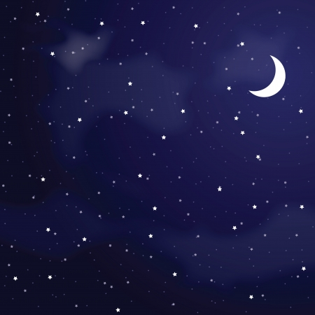 sky cloud: Vector illustration of night sky  Illustration