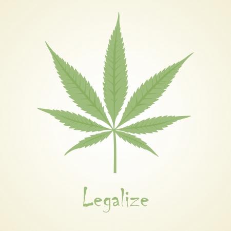 marijuana leaf: Vector cannabis leaf  Marijuana  Illustration