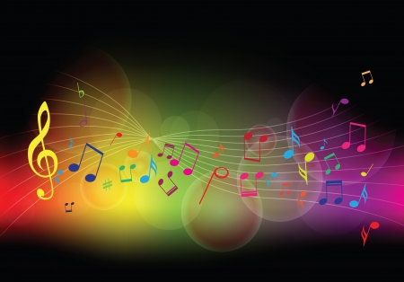 Colorful music background  Vector illustration Vector