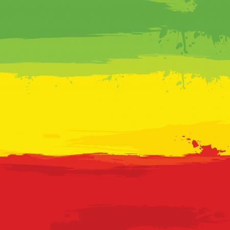 grunge avec le drapeau de l'Ethiopie. Vector illustration.