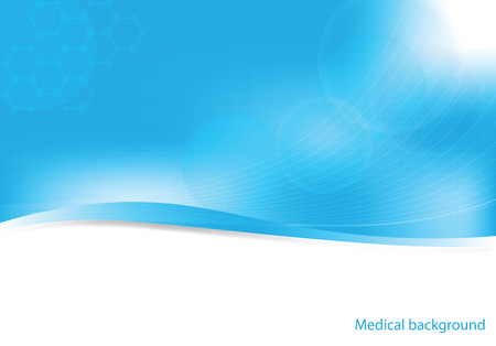 medical background: Abstract molecules medical