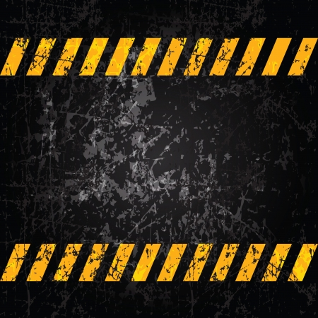 metal construction: Vector grunge with caution stripes and copy space Illustration