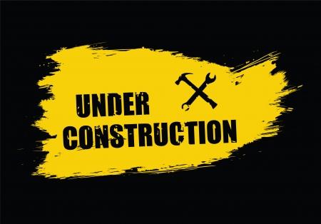 scratched metal: under construction vector illustration  Illustration