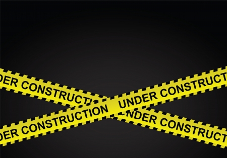 Under construction lines vector  Vector