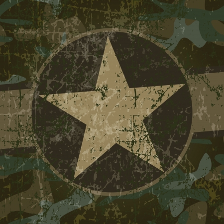 army background: Military background with copy space and star