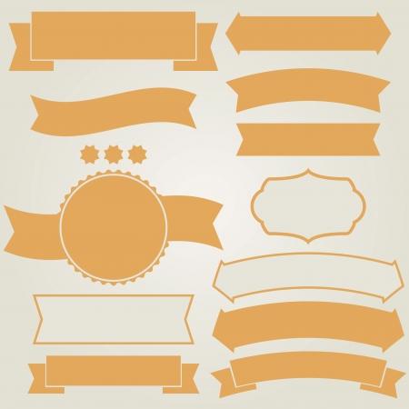element design: Set of retro ribbons (vector illustration) Illustration
