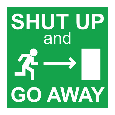 Shut up sign illustration  Vector