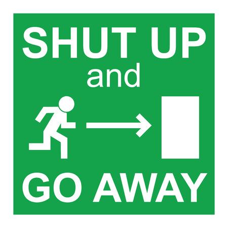 shut up: Shut up sign illustration