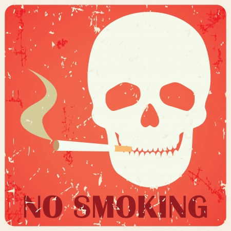 Grunge no smoking sign illustration Vector