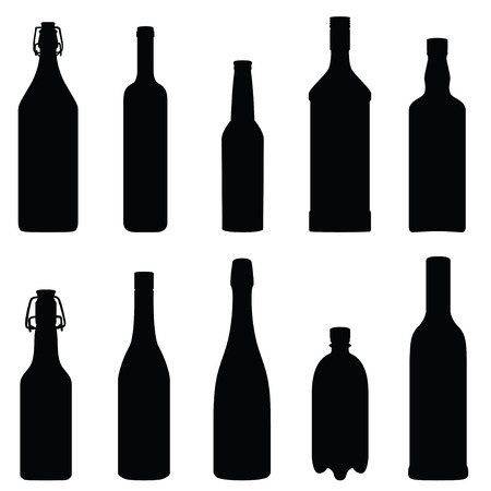 Collection of bottles (vector illustration) Stock Vector - 23902332