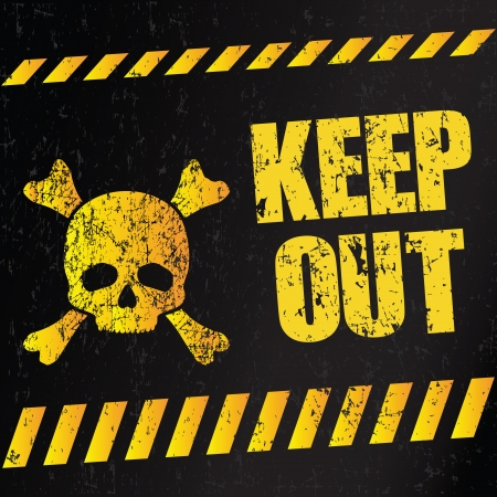 "Muestra del peligro ""Keep Out"" (ilustraci�n vectorial)"