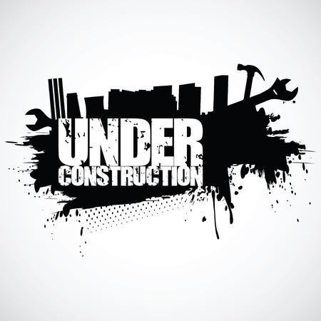 Under construction background (vector illustration) Stock Vector - 23902342